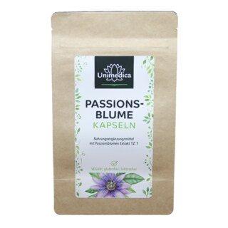 Passionsblume - 750 mg - 120 Kapseln - von Unimedica - Topangebot/