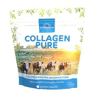 Collagène pur  protéine de collagène  issu d'un pâturage certifié - 450 g de poudre - par Unimedica/