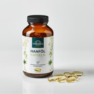 Hanföl - 1.000 mg - 120 Softgelkapseln - von Unimedica