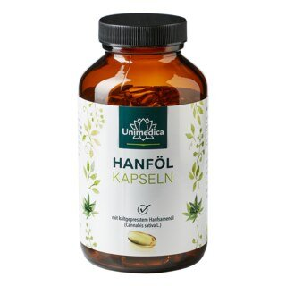 Hanföl - 1.000 mg - 120 Softgelkapseln - von Unimedica/