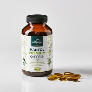 Hanföl Premium - 1.000 mg - 120 Softgelkapseln - von Unimedica