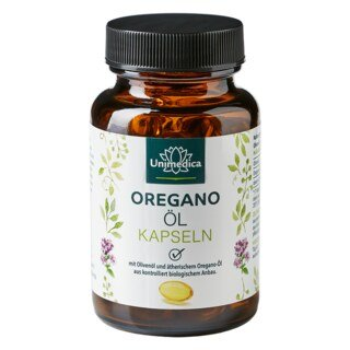 Oregano-Öl mit Bio Oregano-Öl - 135 mg - 60 Softgelkapseln - von Unimedica/