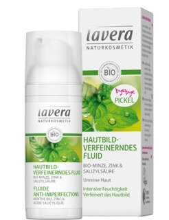 Lavera Hautbildverfeinerndes Fluid Minze - 50 ml