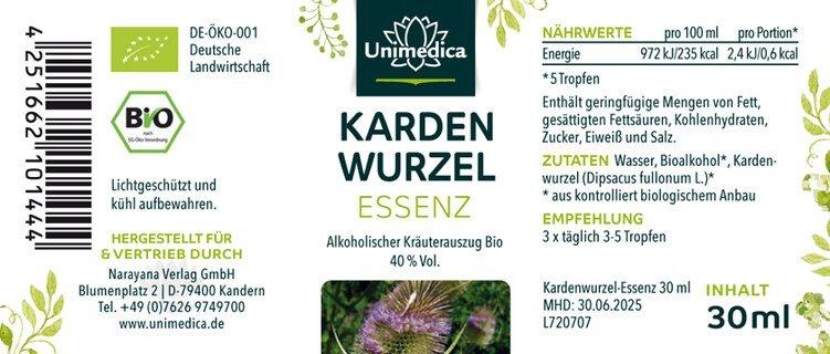 Kardenwurzel Essenz Bio - 30 ml - von Unimedica