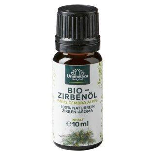 Bio Zirbenöl - 100% naturreines Arvenöl - Zirben-Aroma - ätherisches Öl - 10 ml - von Unimedica/