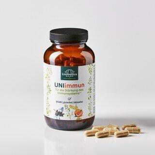 UNIimmun  pour renforcer le système immunitaire avec de la vitamine C et du zinc - 180 gélules - Unimedica