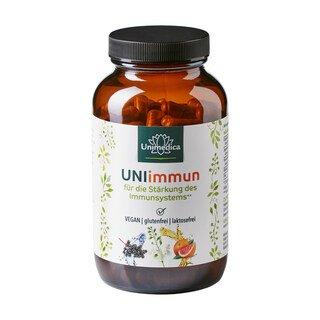 UNIimmun - für die Stärkung des Immunsystems mit Vitamin C und Zink - 180 Kapseln - von Unimedica/