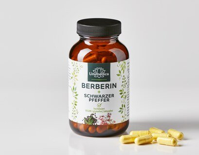 Berberin + Schwarzer Pfeffer -  120 Kapseln - von Unimedica