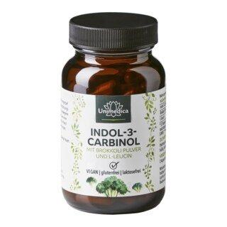 Indole-3-carbinol avec poudre de brocoli et L-leucine - 500 mg - 60 gélules - Unimedica/