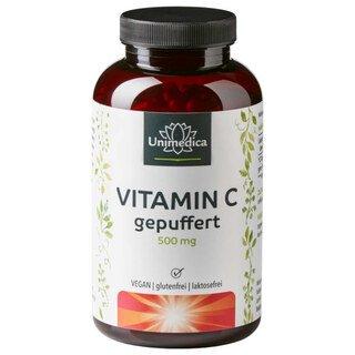 Vitamin C gepuffert - 500 mg - 365 Kapseln - von Unimedica