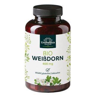 Weißdorn Bio - 400 mg - 200 Kapseln - von Unimedica/