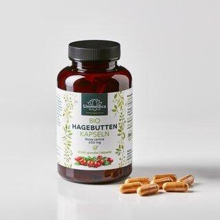 Bio Hagebutten - 650 mg - 150 Kapseln - von Unimedica