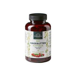 Bio Hagebutten - 650 mg - 150 Kapseln - von Unimedica/
