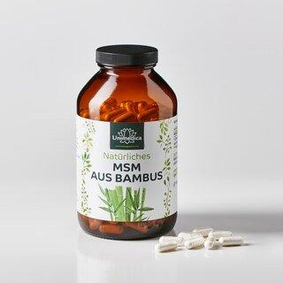 Natürliches MSM aus Bambus - 365 Kapseln - von Unimedica