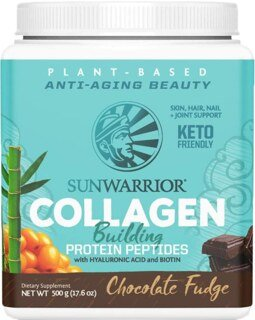 Sunwarrior Collagen Building Protein Peptides - Chocolate Fudge - 500 g/