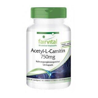 Acetyl-L-Carnitin 750mg - 120 Kapseln/