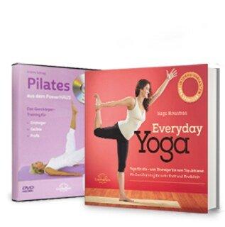 Set mit Everyday Yoga Buch + Gratis Pilates aus dem Powerhaus - 1 DVD/Sage Rountree / Anette Schrag