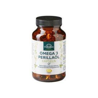 Omega 3 Perillaöl - reich an Alpha-Linolensäure (60%) - 150 Softgelkapseln - von Unimedica