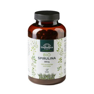Bio Spirulina - 6000 mg hochdosiert -  500 Tabletten - von Unimedica/