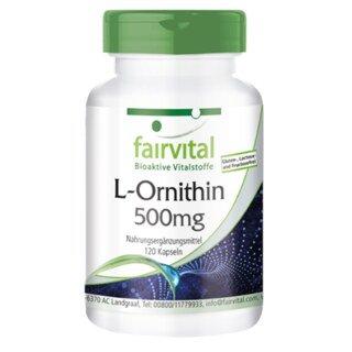 L-Ornithin 500 mg - 120 Kapseln/