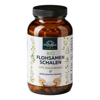 Flohsamenschalen Bio - 1.000 mg - 180 Kapseln - von Unimedica/
