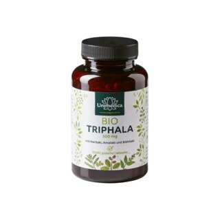 Bio Triphala - 500 mg - 180 Kapseln - von Unimedica - Sonderangebot/
