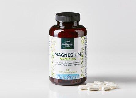 Complexe de magnésium - 417 mg de magnésium élémentaire - 180 gélules - Unimedica