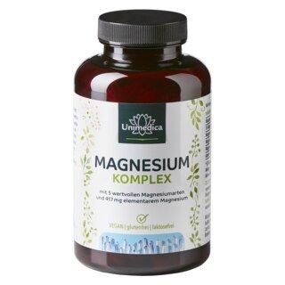 Complexe de magnésium - 417 mg de magnésium élémentaire - 180 gélules - Unimedica/