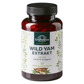 Wild Yam Extrakt - 440 mg - mit 20% Diosgenin - 180 Kapseln - von Unimedica/