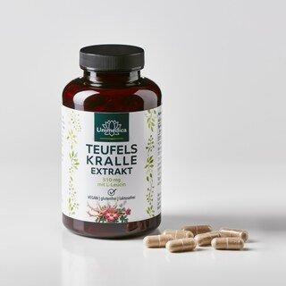 Teufelskralle mit L-Leucin - 510 mg - 180 Kapseln - von Unimedica