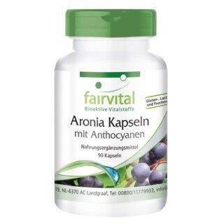 Aronia Kapseln mit Anthocyanen - 90 Kapseln/