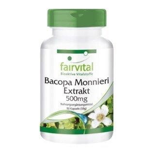 Bacopa Monnieri Extrakt 500 mg - 90 Kapseln/