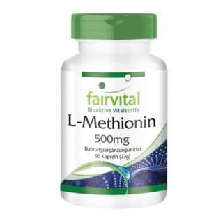 L-Methionin 500 mg - 90 Kapseln