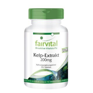 Kelp-Extrakt 200 mg - 250 Tabletten/