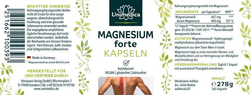 Lot de: Vitamine D3 / K2 MK7 all-trans - D3 1 000 UI. 25 µg / K2 20 µg sous forme de gouttes - 50 ml et Magnesium forte - 667 mg - 365 gélules   dans le set - par Unimedica