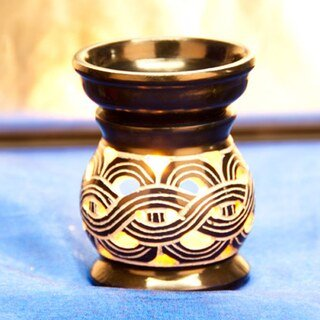 Aromalampe Keltischer Knoten, dunkelblau Speckstein - Berk - 8,5 cm/