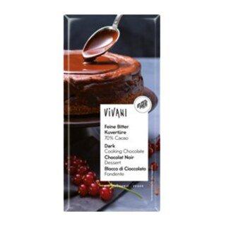 Feine Bitter Kuvertüre Bio - 70% Kakao - 200 g/