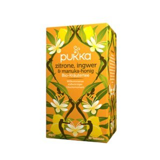 Zitrone Ingwer und Manuka-Honig Bio-Kräutertee - 20 Teebeutel/