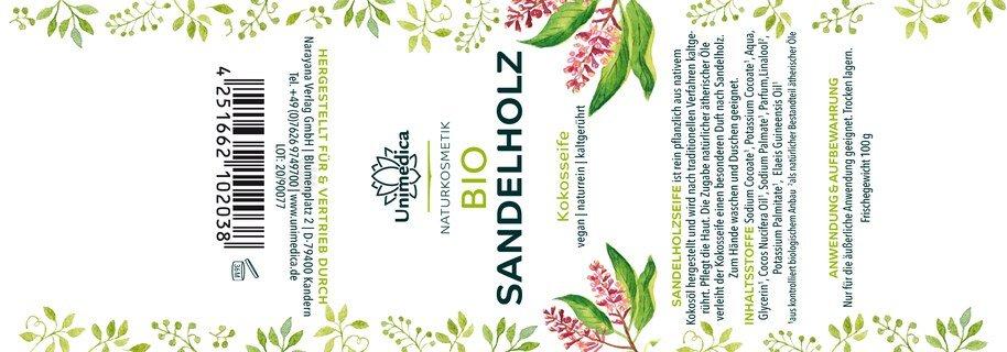 Bio Sandelholzseife - 100 g - von Unimedica