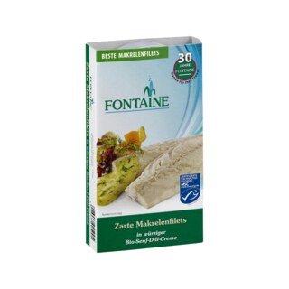 Makrelenfilets in Bio-Senf-Dill-Creme - Fontaine - 200 g/
