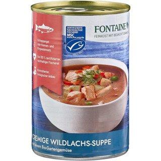 Cremige Wildlachs-Suppe mit feinem Bio-Gartengemüse - Fontaine - 400 ml/