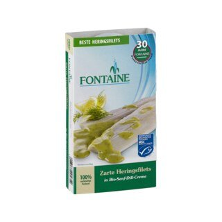 Heringsfilets in Bio-Senf-Dill-Creme - Fontaine - 200 g/