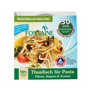 Thunfisch für Pasta - Oliven, Kapern & Tomate - Fontaine - 200 g/