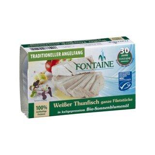Weißer Thunfisch in Bio-Sonnenblumenöl - Fontaine - 120 g/