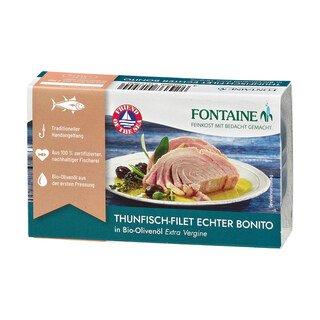 Thunfisch-Filet - Echter Bonito in Bio-Olivenöl - Fontaine - 120 g/