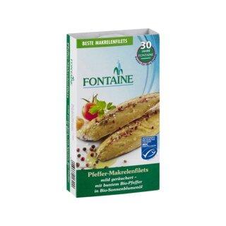 Pfeffer-Makrelenfilets in Bio-Sonnenblumenöl - Fontaine - 190 g/