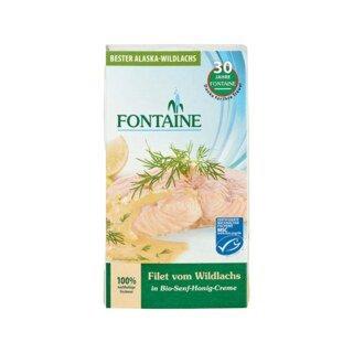 Wildlachs-Filet in Bio-Senf-Honig-Creme - Fontaine - 200 g/