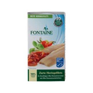 Heringsfilets in Bio-Tomatencreme mit Tomatenstücken - Fontaine - 200 g/