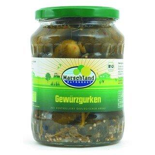 Bio-Gewürzgurken - Marschland Naturkost - 720 ml/