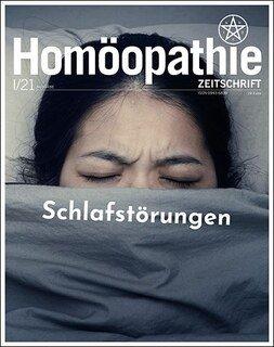 Homöopathie Zeitschrift 2021/1 - Schlafstörungen, Kirstin Hill